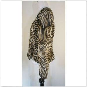 Dana Buchman Tops - Dana Buchman Vintage 100% Silk Animal Wrap Shirt